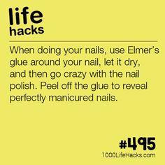 Elmer's Glue Nail Hack