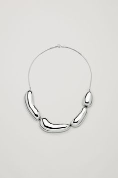 COS image 1 of Chunky metal bead necklace in Silver