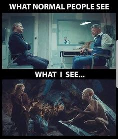 Bahahahah yep, the Tolkien white guys in black panther -- their personalities were actually quite similar to Bilbo and Gollum/Smeagol Legolas, Aragorn, Thranduil, Dc Memes, Marvel Memes, Funny Memes, Marvel Marvel, Nerd Memes, Marvel Funny