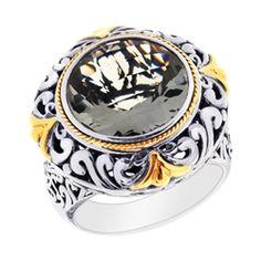 Phillip Gavriel Collection - 18K Gold, Sterling Silver & Green Amethyst Ring