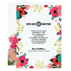 Bridal Shower Thank You Custom Photo Cards - personalize design idea new special custom diy or cyo