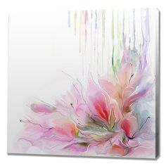Spring Rain Painting Print on Wrapped Canvas