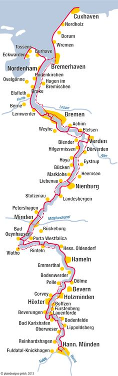 The Weser cycle path - The Weser bike path - Travel The World Quotes, Travel Quotes, Europe Destinations, Bike Path, Travel Information, Germany Travel, Adventure Travel, Travel Tips, Travel Hacks