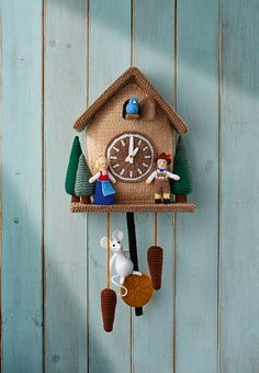 Never thought you would knit a cuckoo clock? Well think again, because Alan Dart's genius has struck once more with this delightful representation of the beloved nursery rhyme. Complete with the adventurous mouse and obligatory cuckoo, this design is about as faithful as you're going to get. And it's adorable too.
