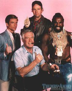 The A-Team - Dirk Benedict, George Peppard, Dwight Schultz, Mr. George Peppard, The Ateam, 1980s Tv Shows, Sean Leonard, Grudge Match, Mejores Series Tv, Nostalgia, Cinema Tv, Old Shows