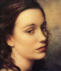 Pietro Annigoni   Beautiful, perhaps a hint of sadness or worry. The eyes seem like they are so longing, but the beauty…so natural.