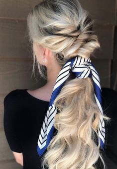 7 Clever Ways To Wear A Ponytail For Every Occasion&; 7 Clever Ways To Wear A Ponytail For Every Occasion&; Judy Simeon messybun 7 Clever Ways To Wear A […] bun for long hair with bandana Tree Braids Hairstyles, Pretty Braided Hairstyles, Braided Hairstyles Tutorials, Loose Hairstyles, Braided Updo, Blonde Biolage, Biolage Hair, Sandro, Hair Without Volume