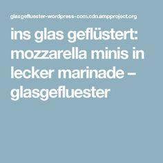 ins glas geflüstert: mozzarella minis in lecker marinade – glasgefluester