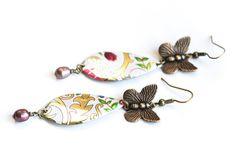 Butterfly Earrings Floral Earrings Tin by MusingTreeStudios, $18.99