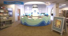 The Fairfield Public Library's Children's Desk is designed as a lighthouse. A beacon of knowledge and fun. :)