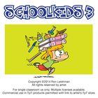 School Kids Set 3 Cartoon Clipart by Ron Leishman $