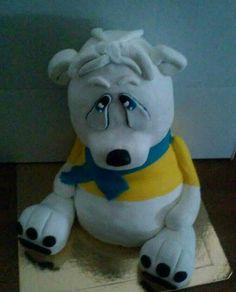 Ursinho 3D pasta de açúcar
