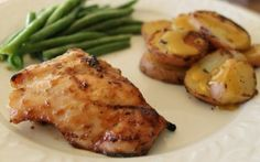 Grilled Honey Mustard Chicken and Red Potatoes