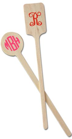 you know I love these!  Custom Wood Drink Stirrers - Set of 50