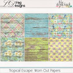 Tropical Escape: Worn Out Papers by LDrag Designs