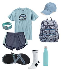 Nike, vera bradley, chaco, s'well and vineyard vines lazy day outfits, Cute Lazy Outfits, Teenage Girl Outfits, Cute Outfits For School, Teen Fashion Outfits, Sporty Outfits, Teenager Outfits, Athletic Outfits, College Outfits, Outfits For Teens