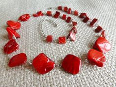 Retro 1970s 1980s Vintage Style Acrylic Red by DonkeyandTheUnicorn, $20.00
