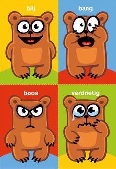 Kleine kinderen kunnen nog niet goed verwoorden hoe ze zich voelen. Maar met de gevoelskaartjes kan je kind tonen hoe het zich voelt. Zo'n babbel hoeft niet meer dan 3minuten te duren.