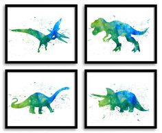 Hey, I found this really awesome Etsy listing at https://www.etsy.com/listing/262722340/watercolor-dinosaur-prints-dinosaur-wall