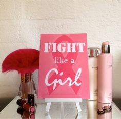 Fight like a Girl Canvas Art B.C.A. by CleverMakings on Etsy, €20.00