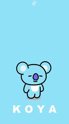 Cute Wallpaper Backgrounds, Cute Cartoon Wallpapers, Wallpaper Iphone Cute, Bts Wallpaper, Bts Chibi, Bts Twice, Line Friends, Bts Drawings, Anime Neko