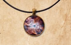 Astronomy necklace Nebulae pendant Deep space by SleepyCatPendants