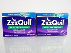 #Zzzquil lot/set of two (2) 12 count ct. piece pc. size boxes of #nighttime…