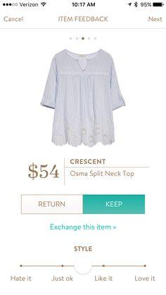 Crescent - Osma Split Neck Top