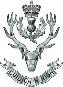 Queens Own Highlanders. Military Cap, Military Insignia, Stag Tattoo Design, Army Badges, Soldier Tattoo, Military Stickers, Military Tattoos, Afghanistan War, Royal Guard