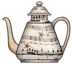 ArtbyJean - Vintage Sheet Music: --- CUBOS CUBOS VAJILLA