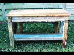 beachbumlivin.com How to build Wood Furniture: Rustic woodworking projects