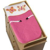 Found it at Wayfair - Sweet Jojo Designs Butterfly Pink and Orange Collection Changing Pad Cover