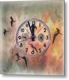 The Clock Ticks  -  Digital Artwork by Hanny Heim, Snowbird Photography