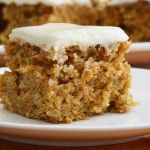 Vegan Carrot Cake - The yummiest recipe I've come across yet, forget eggs and butter, this rocks