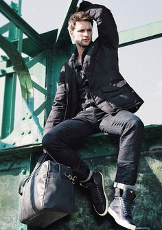 Czech Model Tomas Skoloudik at D'management Group in Milan and DNA Models in NYC, by Armani Jeans Fall Winter 2013-2014 catalogue.