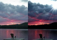 Sun and clouds effect gimp tutorial