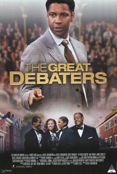 The Great Debaters (2007) A drama based on the true story of Melvin B. Tolson, a professor at Wiley College Texas. In 1935, he inspired students to form the school's first debate team, which went on to challenge Harvard in the national championship.  Denzel Washington, Forest Whitaker, Kimberly Elise...to see bio drama
