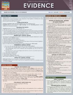 Evidence (Quick Study: Law) by Inc. BarCharts http://www.amazon.com/dp/1423219597/ref=cm_sw_r_pi_dp_b8FStb1CJRP1RXTR $6.95