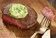 This recipe for garlic and chive butter sirloin steak is awesome! It's bursting with rich flavors and is so simple to make right on your Foreman Grill.