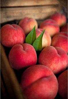 I'd probably rather eat a perfectly ripe, just picked, warm peach than anything else. I also love this photograph.  This is my favorite pin on my board called:  FOOD + STYLING