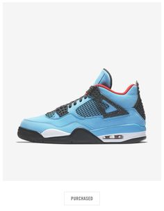 Air Jordan 4 IV Retro Cactus Jack Travis Scott Blue Red Black Size 11 - NEW! 61c4481b2