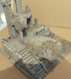 Ancient ruin - Osgiliath - Frostgrave - Fantasy Wargames Scenery - Terrain in | eBay