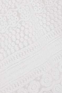 Melissa Odabash - Victoria Embroidered Georgette Dress - White - medium