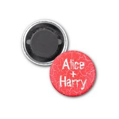 Small 3.2 Cm Grunge Round Magnet for a Couple - valentines day gifts gift idea diy customize special couple love