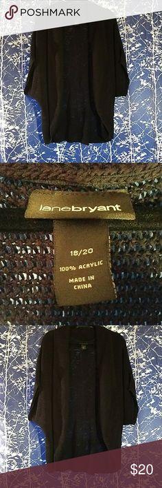 Selling this Lane Bryant 18/20 Black Dolman Sleeve Cardigan on Poshmark! My username is: jhroe. #shopmycloset #poshmark #fashion #shopping #style #forsale #Lane Bryant #Sweaters