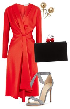 """""""Untitled #215"""" by monika-h ❤ liked on Polyvore featuring Victoria Beckham, Alexandre Birman, Edie Parker and Bling Jewelry"""