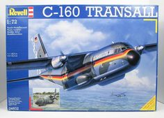 This airplane model kit of the C-160 Transall is made by Revell in 1/72 scale. - 212 parts - Detailed surfaces with recessed panel lines - Detailed nose wheel a