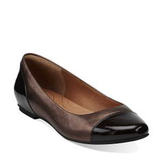 95620dfed82e Valley Moon in Bronze Leather - Womens Shoes from Clarks -  100 Leather  Flats