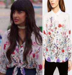 Tahani's Floral Watercolor Top on The Good Place