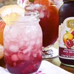 POMEGRANATE ITALIAN SODA (Pomegranate Pink Grapefruit Cocktail Mixer ...